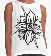 Flower Skull Sleeveless Top