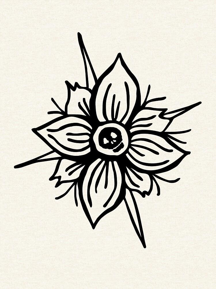 Flower Skull by GroglioArt
