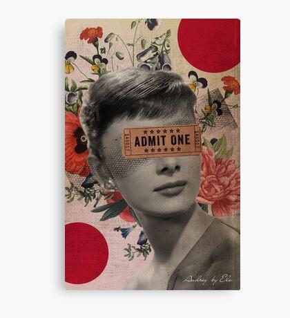 Public Figures Collection -- Audrey by Elo Canvas Print