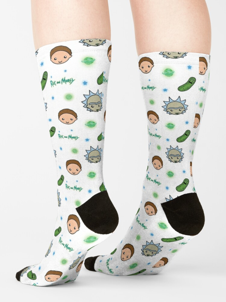 Alternate view of Rick and Morty space adventure Socks