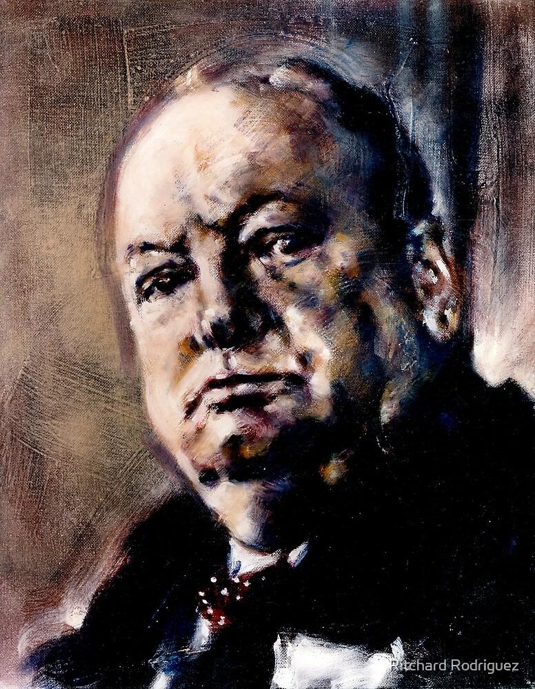 Portrait of Winston Churchill by Ritchard Rodriguez
