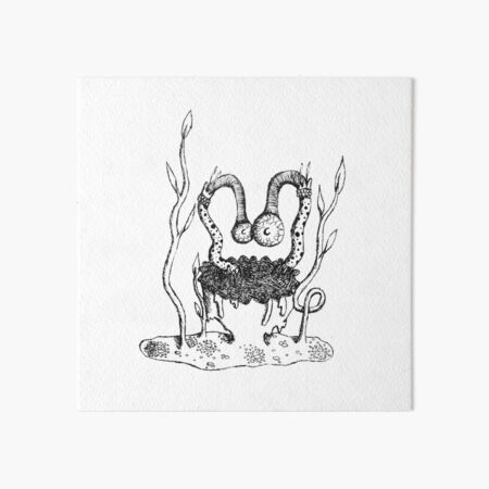 Goop Monster Art Board Print
