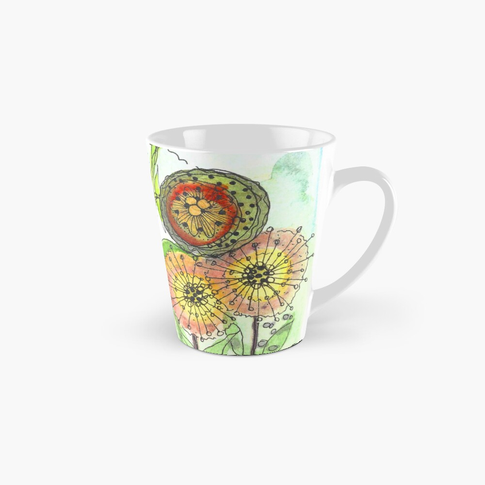 Autumn Flowers and Little Spiders Tall Mug