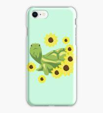 Sunflower Turtle iPhone Case/Skin