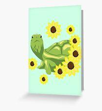 Sunflower Turtle Greeting Card