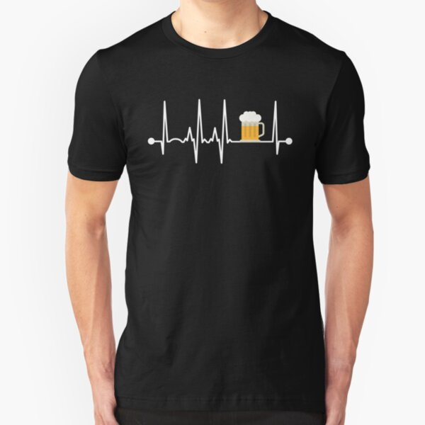 Beer Heartbeat Slim Fit T-Shirt