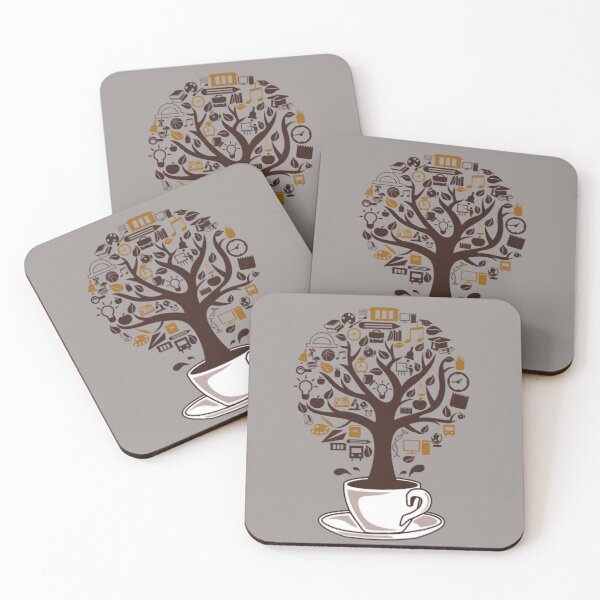 Relaxe Tee Shirt - coffee Coasters (Set of 4)