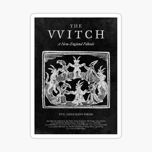 La Bruja Película Película Cartel Negro Phillip Thomasin VVitch Pegatina