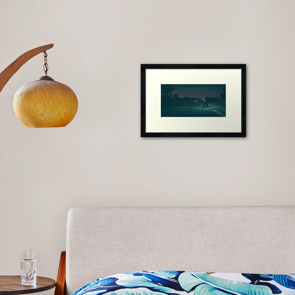 Midnight Upload Framed Art Print
