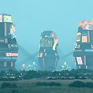 Bell Towers by Simon Stålenhag