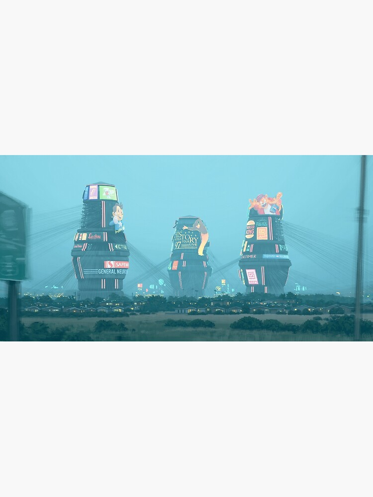 Bell Towers by simonstalenhag