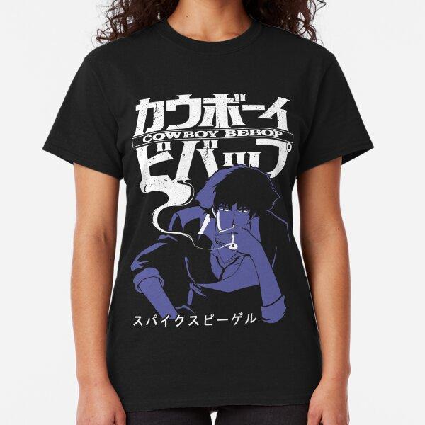 Cowboy Bebop Spike The Good Vicious The Bad Ein The Corgi Black T-Shirt