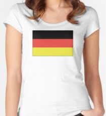 German Flag Women's Fitted Scoop T-Shirt
