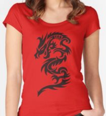 Tribal dragon totem Women's Fitted Scoop T-Shirt