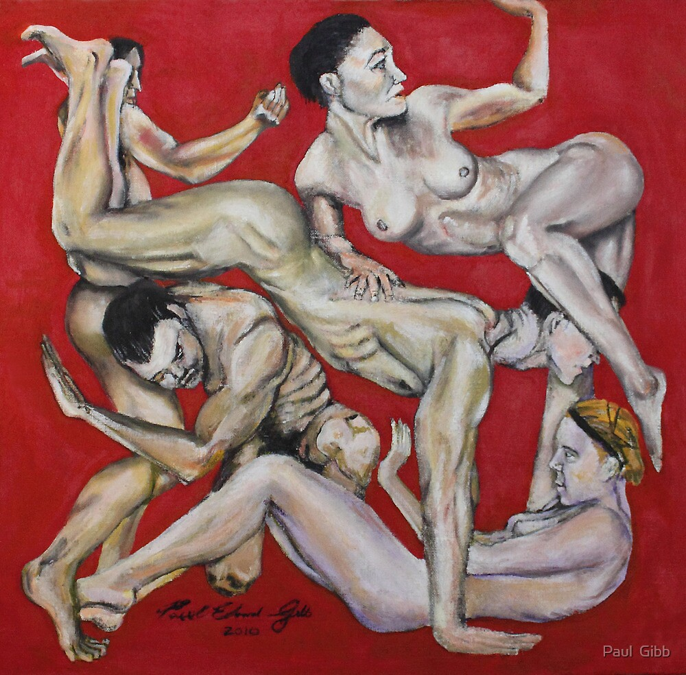Nudes in Red by Paul  Gibb