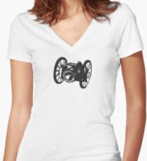 Can(n)on - Let's take some shots! Women's Fitted V-Neck T-Shirt