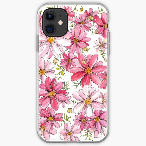Pink Floral Pattern iPhone Soft Case