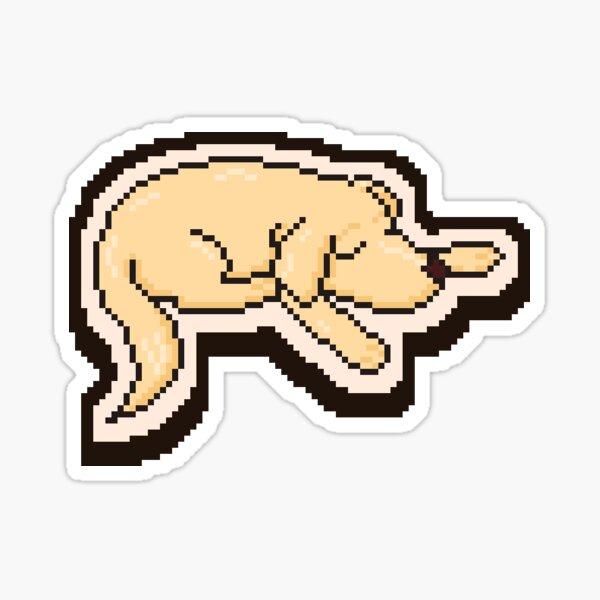 Sleepy pixely dog Sticker