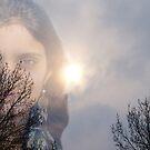 Mysterious Soniya in Snowy Sky by Gilberte