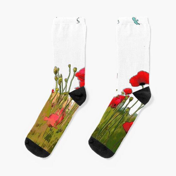 Poppies  Socks