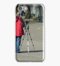 Man And Manfrotto iPhone Case/Skin