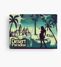 Desert paradise blue Canvas Print