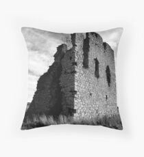 Ruined Castle - Kemnay, Aberdeenshire Throw Pillow