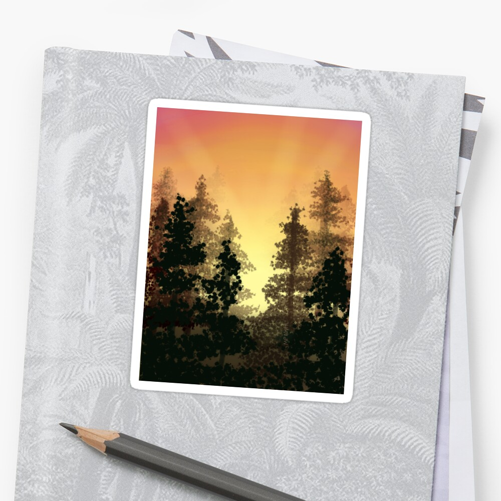 Sunlight in the Trees Sticker