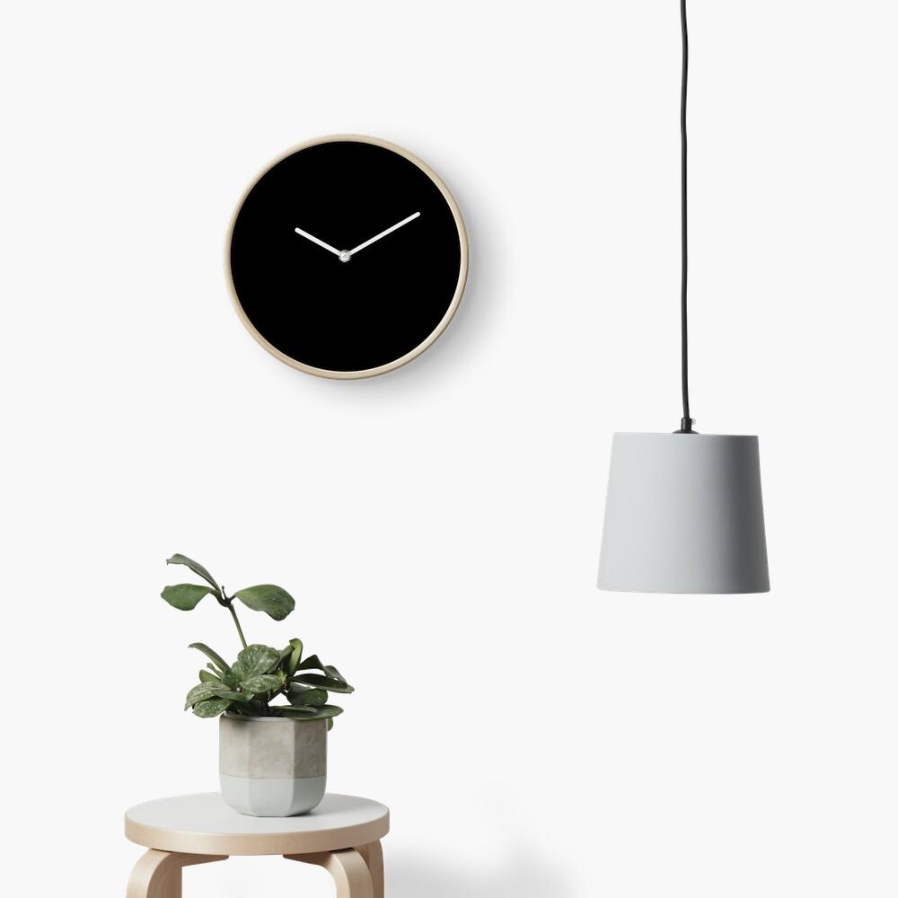 De color negro Reloj