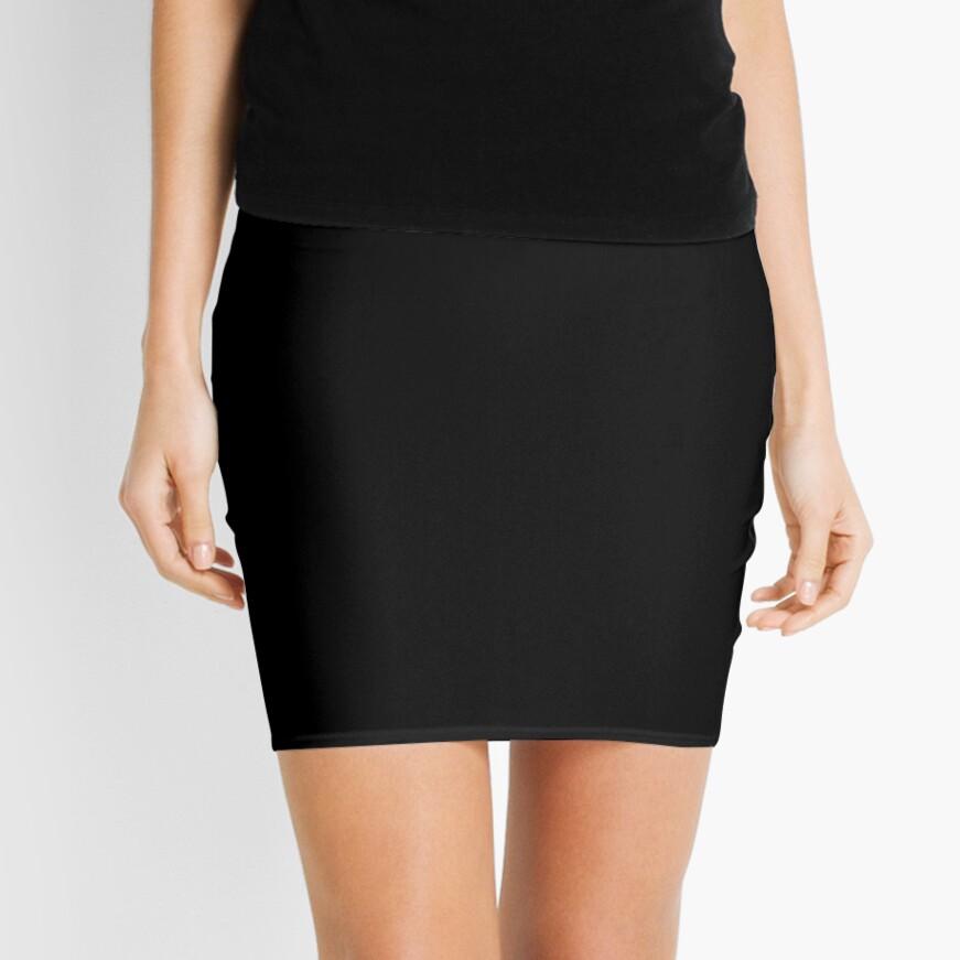 De color negro Minifalda