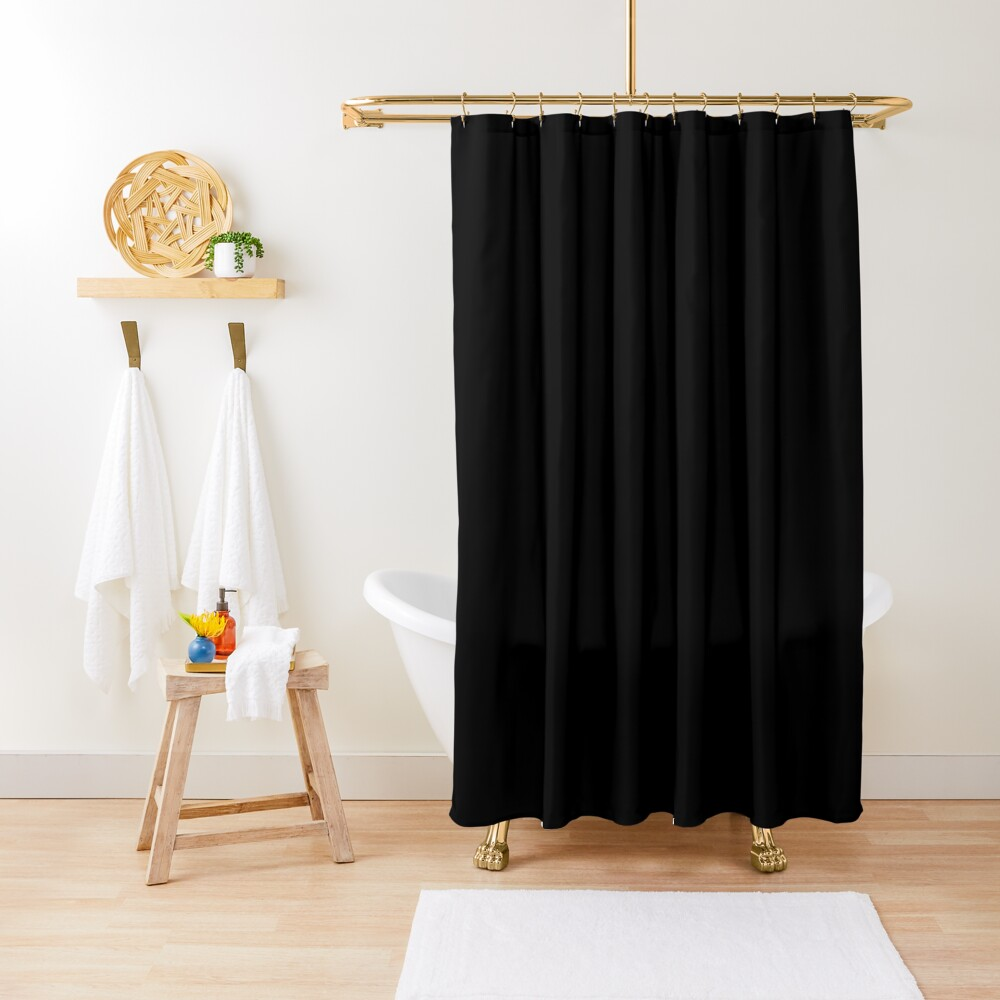 De color negro Cortina de ducha