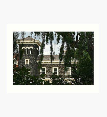 Bluestone mansion Art Print