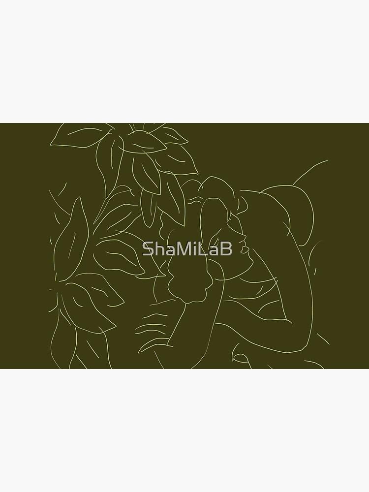 Matisse Line Art #5 Green by ShaMiLaB