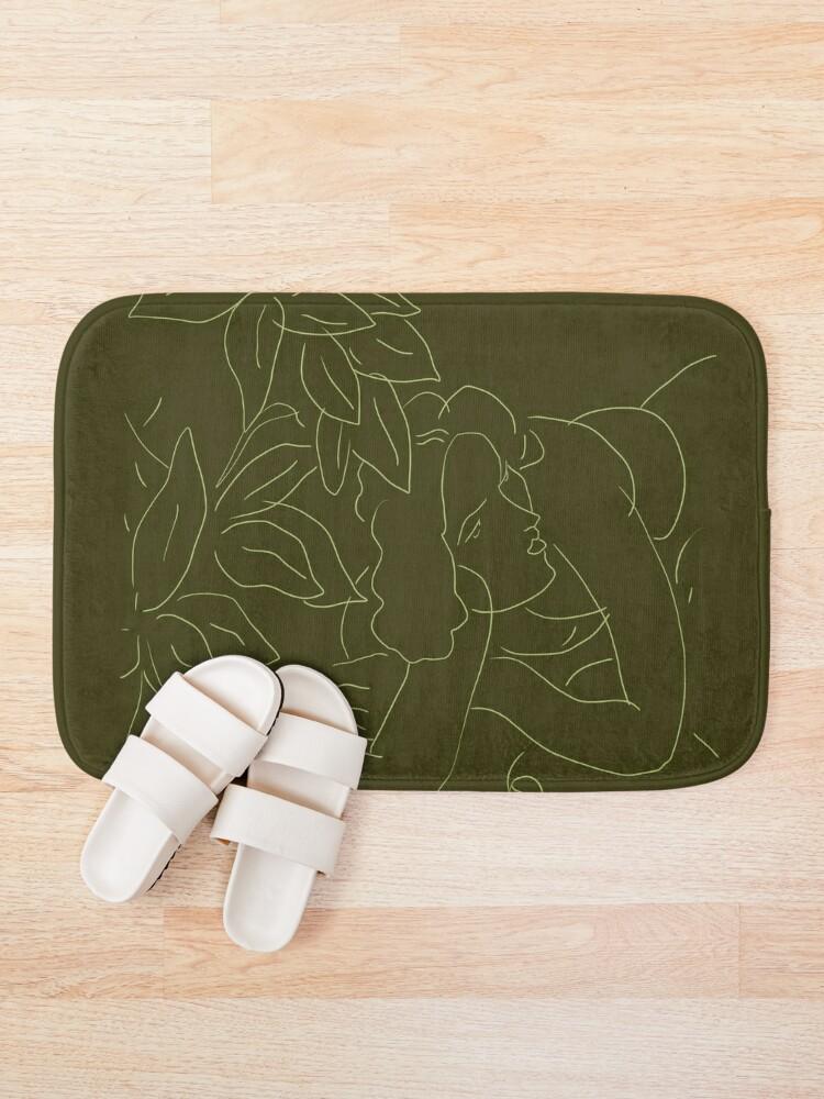 Alternate view of Matisse Line Art #5 Green Bath Mat