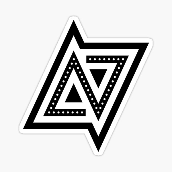 USA Las Vegas LV Monogram Sticker
