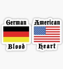 German Blood American Heart Sticker