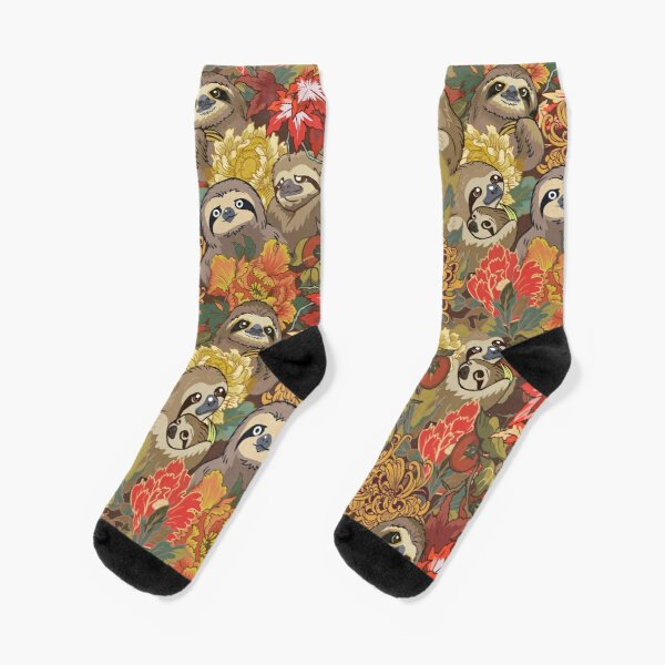 Because Sloths Autumn Socks
