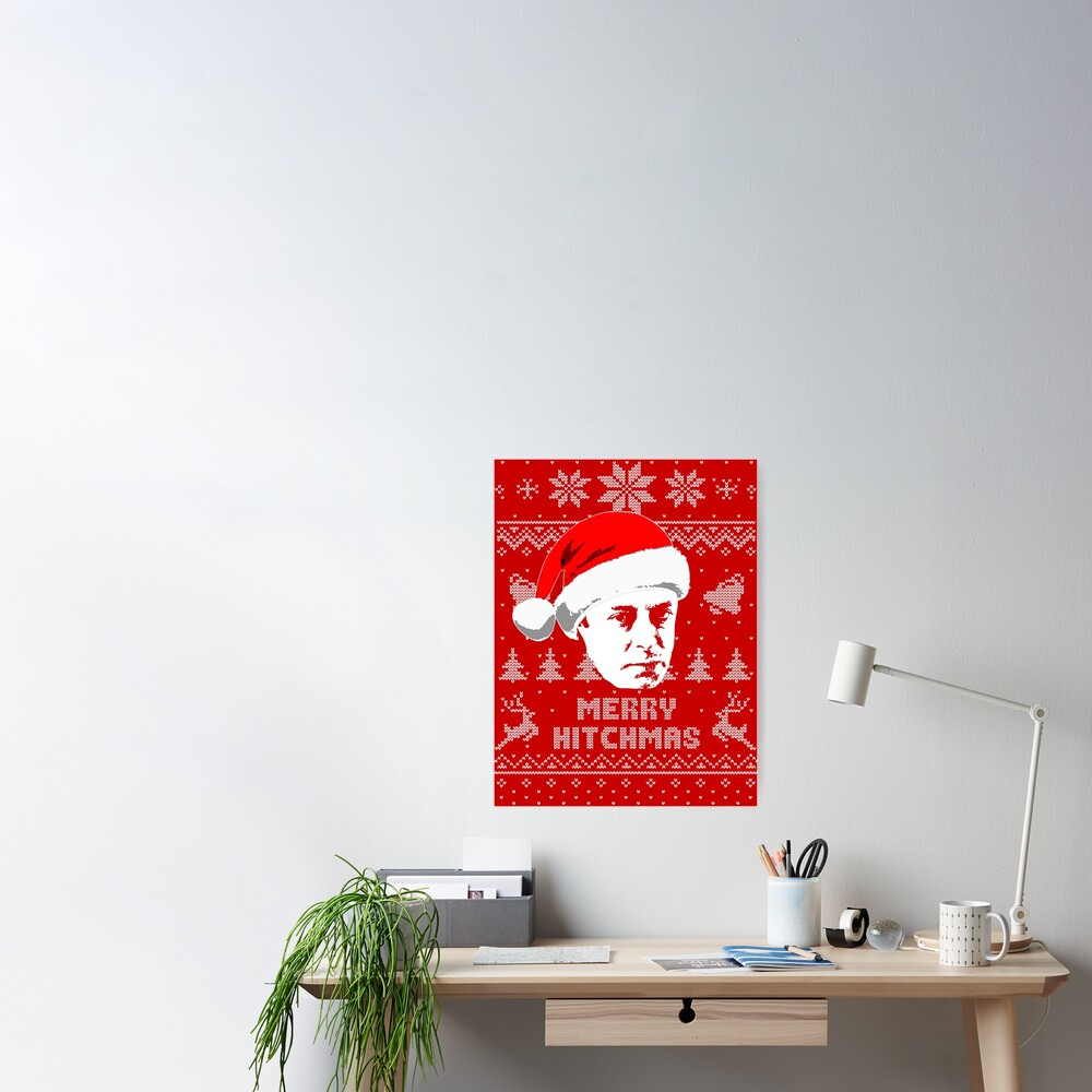 Christopher Hitchens Merry Hitchmas Ugly Christmas Sweater | Poster