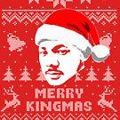 Martin Luther King Merry Kingmas Ugly Christmas Sweater von idaspark