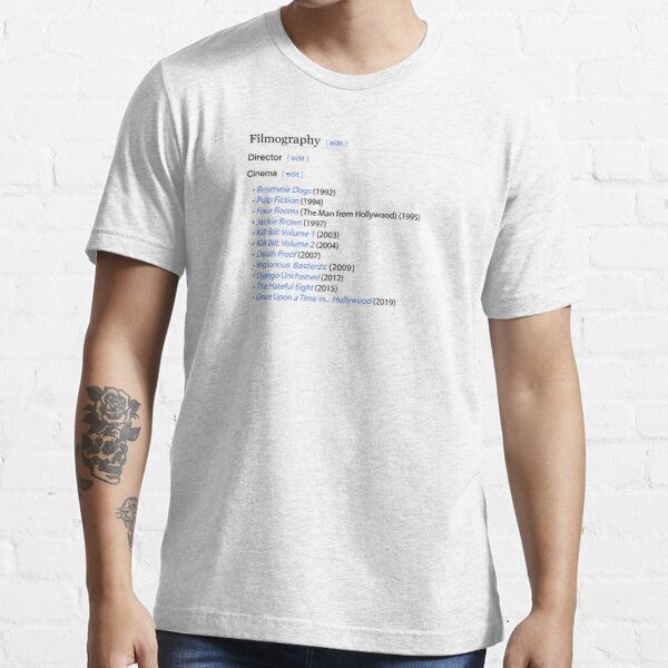 Quentin Tarantino's filmography  Essential T-Shirt