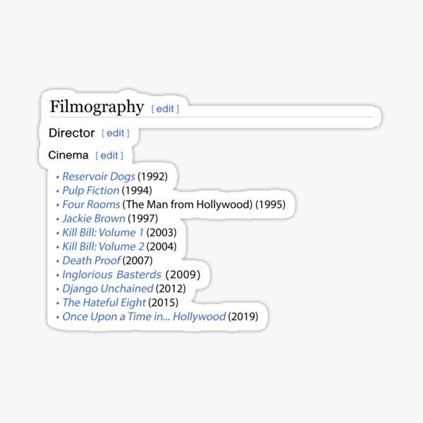 Quentin Tarantino's filmography  Sticker