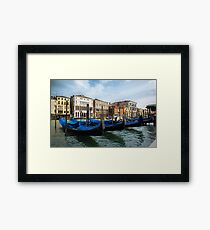 Gondolas of Venice Framed Print