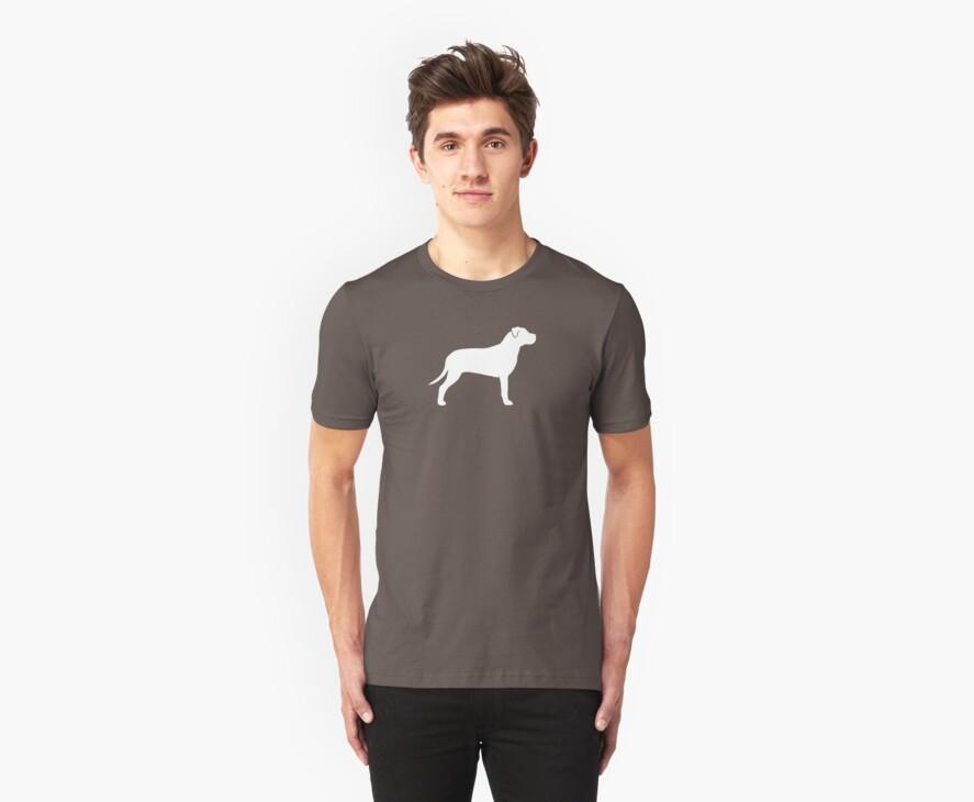 American Pit Bull Terrier Silhouette(s) by Jenn Inashvili