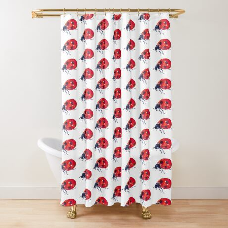 BAANTAL / Pollinate / Ladybird Shower Curtain