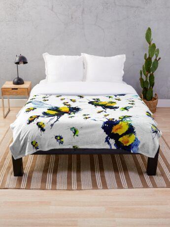 BAANTAL / Pollinate / Bees Throw Blanket