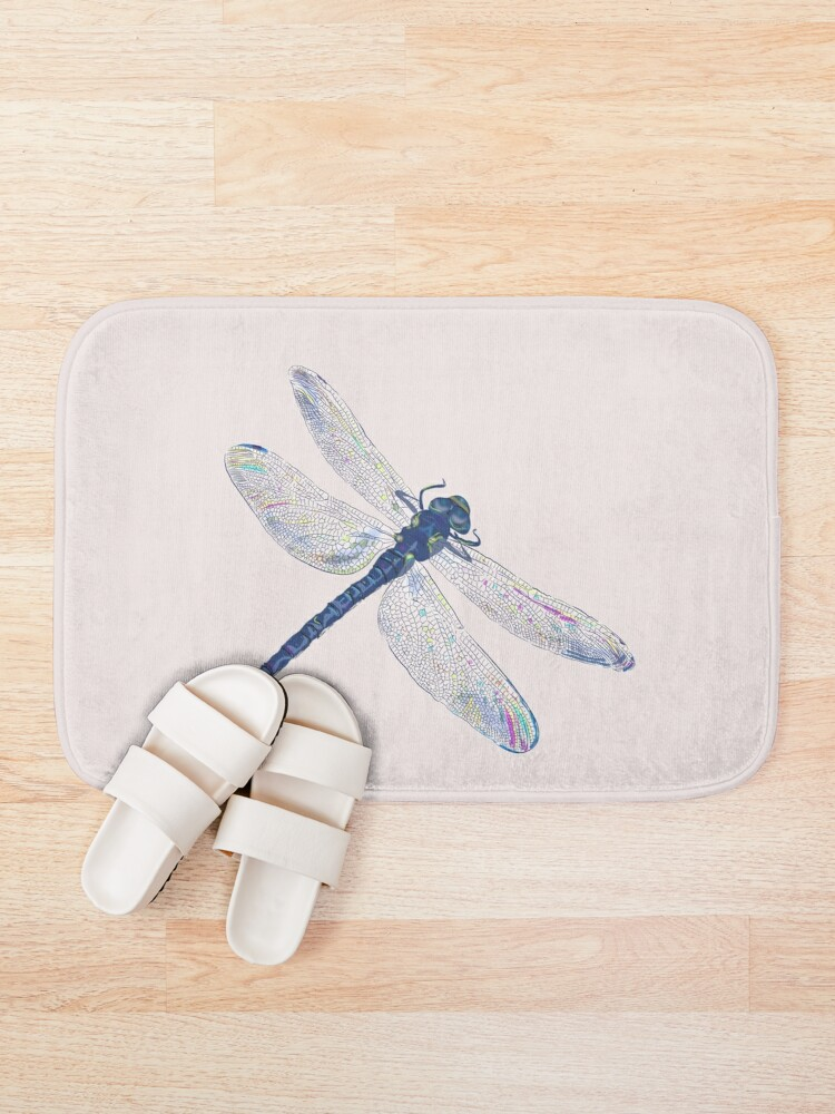 Alternate view of Dragonfly riding the light Bath Mat