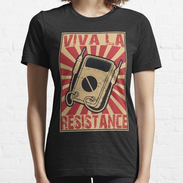 Funny Vintage Viva La Resistance retro color woodblock design Essential T-Shirt