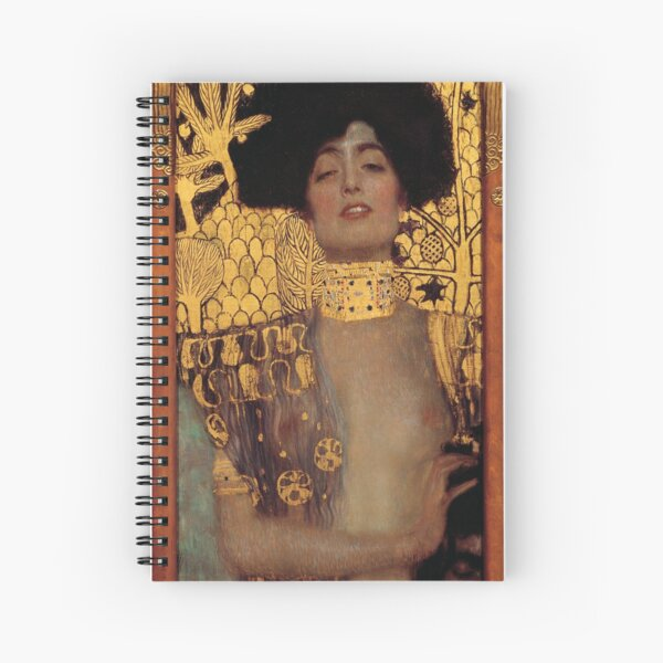 Judith and the Head of Holofernes (also known as Judith I) is an oil painting by Gustav Klimt created in 1901. It depicts the biblical character of Judith Spiral Notebook