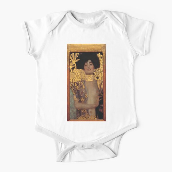 Judith and the Head of Holofernes (also known as Judith I) is an oil painting by Gustav Klimt created in 1901. It depicts the biblical character of Judith Short Sleeve Baby One-Piece