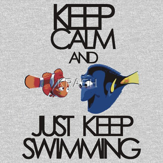 TShirtGifter presents: Keep Calm and Just Keep Swimming